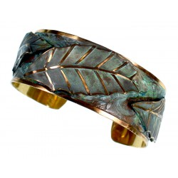 Patina Brass Magnolia Leaf...