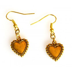 Antiqued Gold Brass Heart...