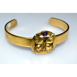 Antique Gold Butterfly Cuff...