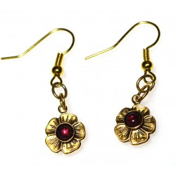 Antique Gold Brass Flower...