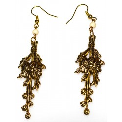 Antique Gold Brass Floral...