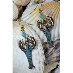 Patina Lobster Dangle...