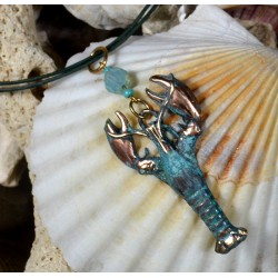 Patina Lobster Pendant...