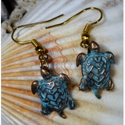 Patina Brass Sea Turtle...