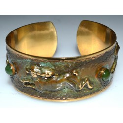 Olive Patina Solid Brass...