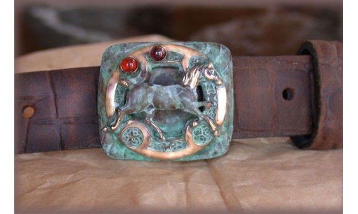 Equestrian Motif Belts by Elaine Coyne Galleries