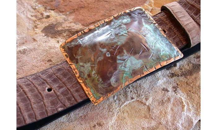 Handforged, textured Belts by Sheriden Starr