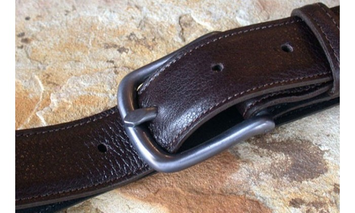 Classic leather belts by Elaine Coyne