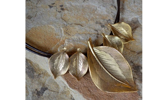Leaves in Antique Gold