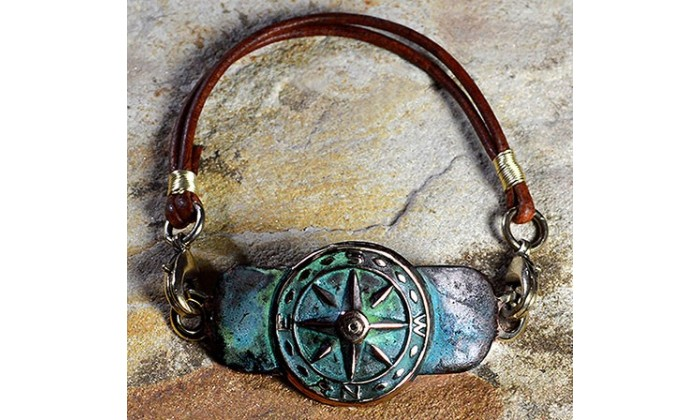 World Traveler wearable art jewelry by Elaine Coyne