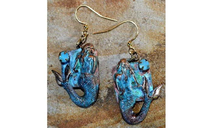 Mermaid Wearable Art Jewelry by Elaine Coyne