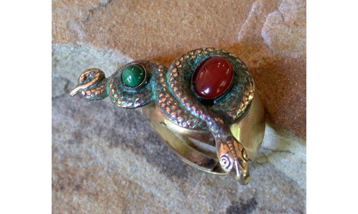 Ancient Egyptian Motif Solid Brass Adjustable Wearable Art Rings