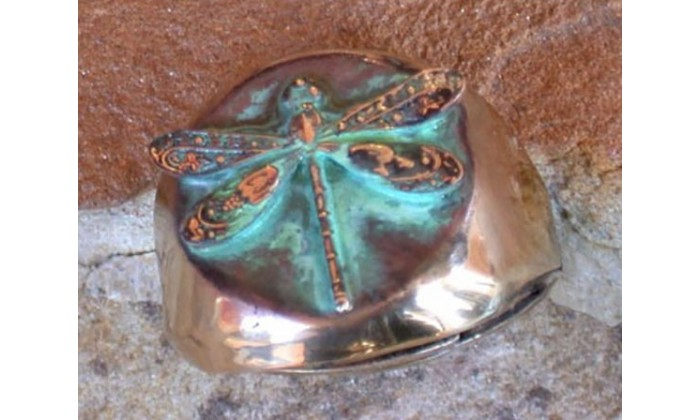 Dragonfly and Butterfly Wearable Art Rings by Elaine Coyne Galleries