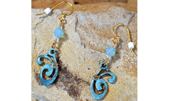 Bohemian Chic Earrings by Elaine Coyne Galleries