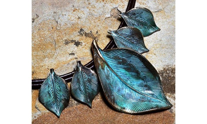 Leaves Necklace wearable art by Elaine Coyne