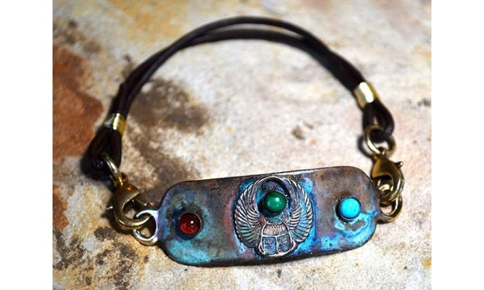 Ancient Egyptian Motif Solid Brass Wearable Art Rockbands